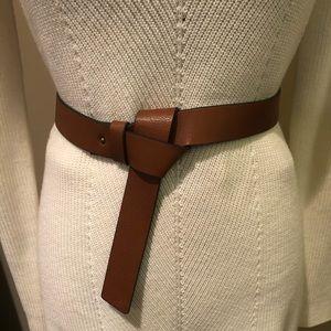 Express Tie Knot Cognac Belt